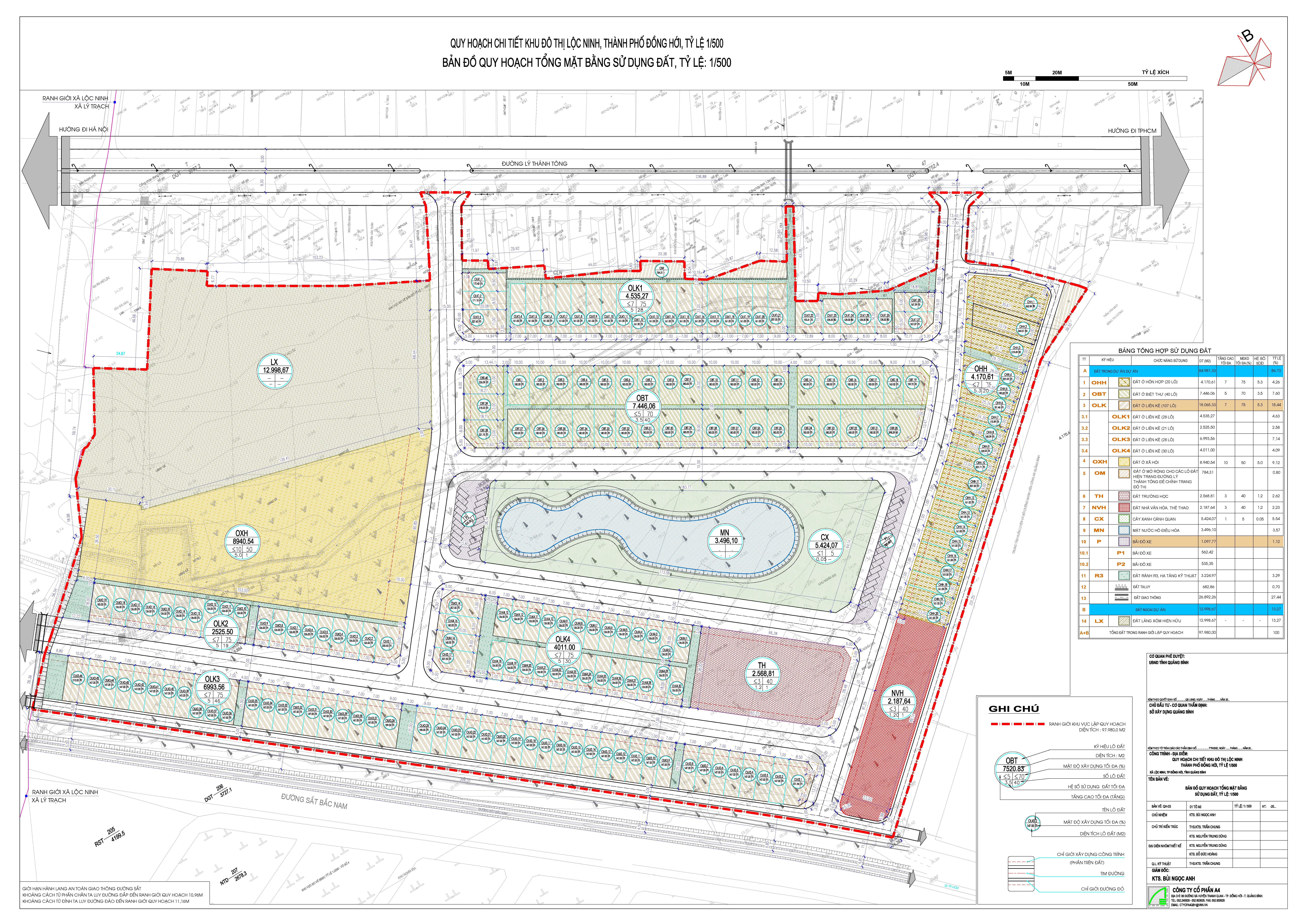 Công bố Quy hoạch chi tiết Khu đô thị Lộc Ninh, thành phố Đồng Hới, tỷ lệ 1/500