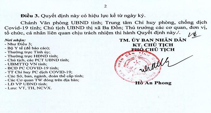 Áp dụng Chỉ thị 16 tại một số khu vực phường Quảng Thọ (TX. Ba Đồn)