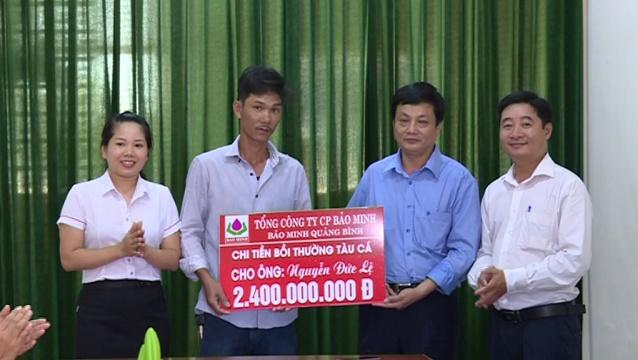 Bảo hiểm Bảo Minh Quảng Bình chi trả bồi thường 2,4 tỷ đồng cho ngư dân