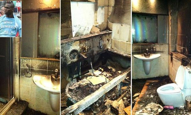 Balotteli kêu oan vụ đốt pháo trong nhà