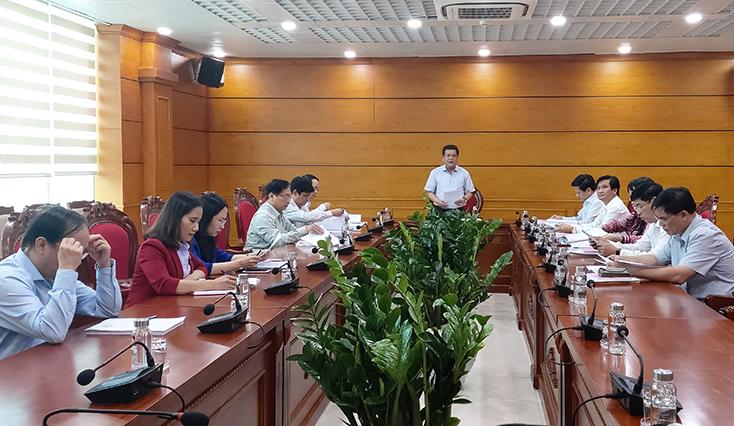 Ban bầu cử số 2-bầu cử đại biểu Quốc hội khóa XV tỉnh Quảng Bình họp phiên thứ nhất