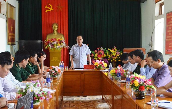 Ban chỉ đạo biển đảo tỉnh làm việc với Đồn Biên phòng Cửa khẩu cảng Gianh