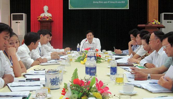 Ban đại diện Hội đồng quản trị Ngân hàng CSXH tỉnh họp phiên thường kỳ lần thứ IV năm 2015