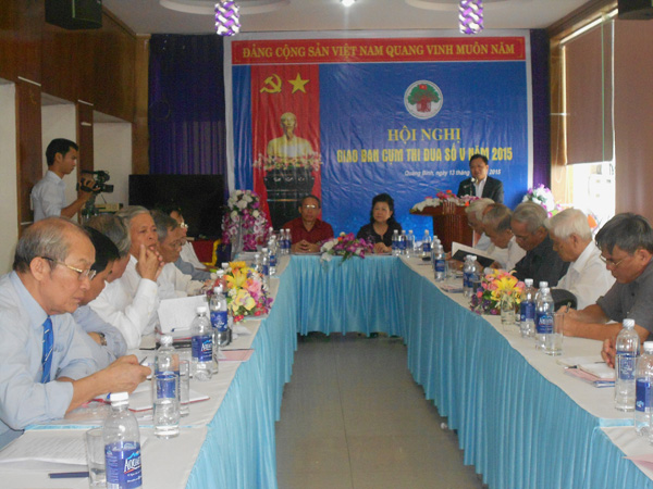 Ban đại diện Hội người cao tuổi tỉnh tổ chức hội nghị giao ban Cụm thi đua số V năm 2015