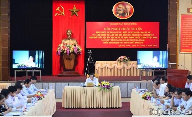 Ban Dân vận Trung ương sơ kết công tác Dân vận 6 tháng đầu năm 2015