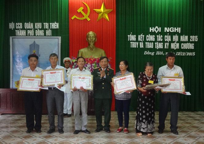 Ban liên lạc CCB Quân khu Trị Thiên TP Đồng Hới: Tổng kết công tác năm 2015