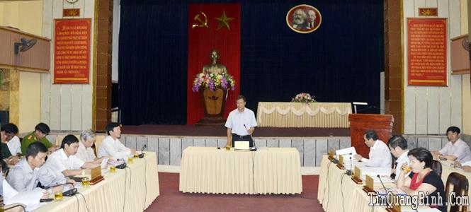 Ban Thường vụ Tỉnh ủy cho ý kiến các nội dung Đại hội Đảng bộ huyện Bố Trạch
