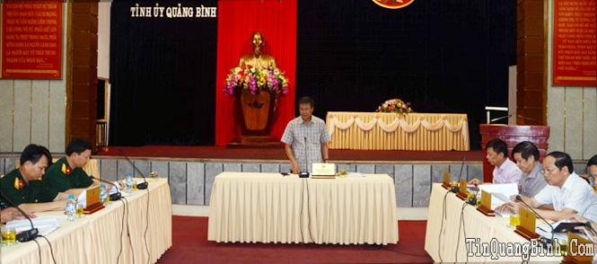 Ban Thường vụ Tỉnh ủy: Cho ý kiến vào các nội dung Đại hội Đảng bộ Quân sự tỉnh