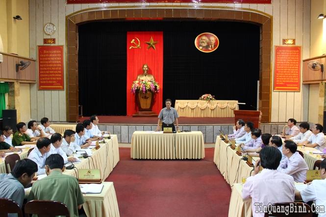 Ban Thường vụ Tỉnh ủy: Cho ý kiến về các nội dung Đại hội Đảng bộ huyện Lệ Thủy lần thứ XXIII, nhiệm kỳ 2015-2020