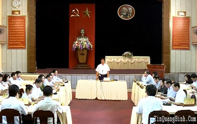 Ban Thường vụ Tỉnh ủy: Cho ý kiến về các nội dung Đại hội Đảng bộ huyện Quảng Ninh lần thứ XXIV
