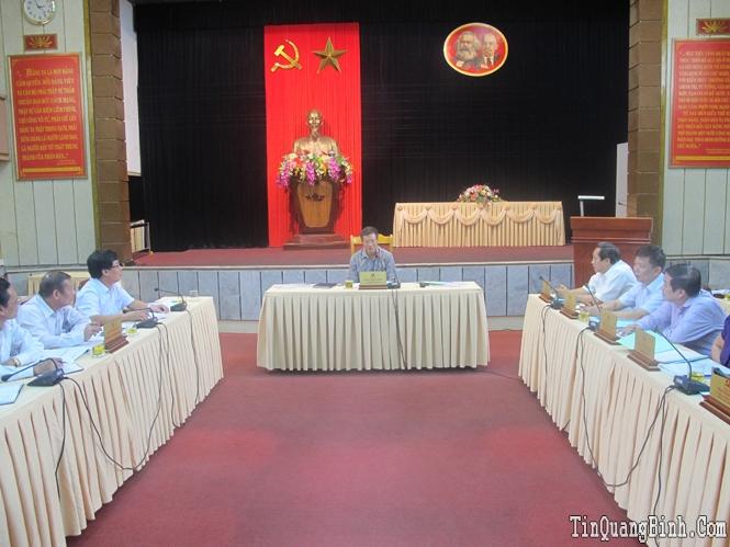 Ban Thường vụ Tỉnh ủy: Cho ý kiến về các nội dung Đại hội Đảng bộ huyện Quảng Trạch