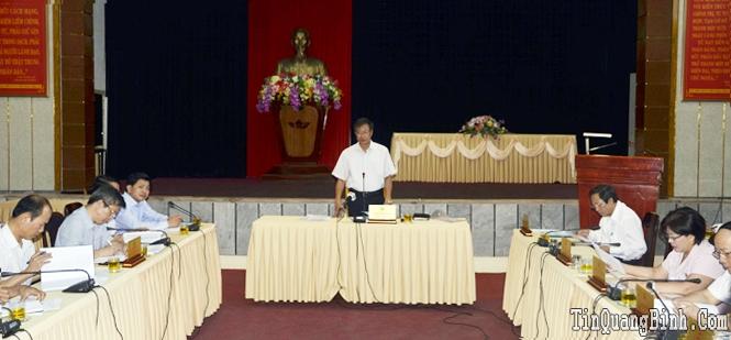 Ban Thường vụ Tỉnh uỷ: Cho ý kiến về các nội dung Đại hội Đảng bộ huyện Tuyên Hoá