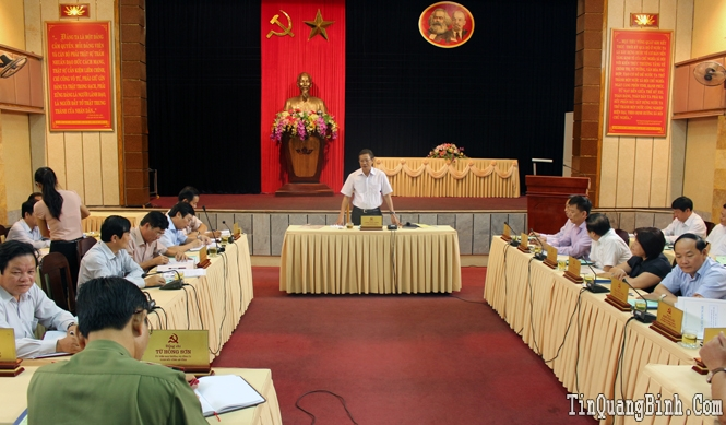 Ban Thường vụ Tỉnh ủy: Cho ý kiến về các nội dung Đại hội Đảng bộ thành phố Đồng Hới