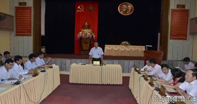 Ban Thường vụ Tỉnh uỷ: Cho ý kiến về các nội dung Đại hội Đảng bộ thị xã Ba Đồn