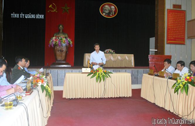 Ban Thường vụ Tỉnh ủy: Hội nghị lần thứ 65 thông qua Dự thảo (lần 2) Báo cáo chính trị trình Đại hội Đảng bộ tỉnh lần thứ X
