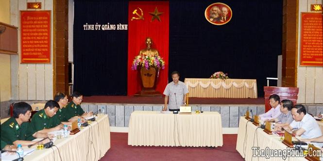 Ban Thường vụ Tỉnh ủy: Thông qua các nội dung Đại hội Đảng bộ Bộ đội Biên phòng tỉnh