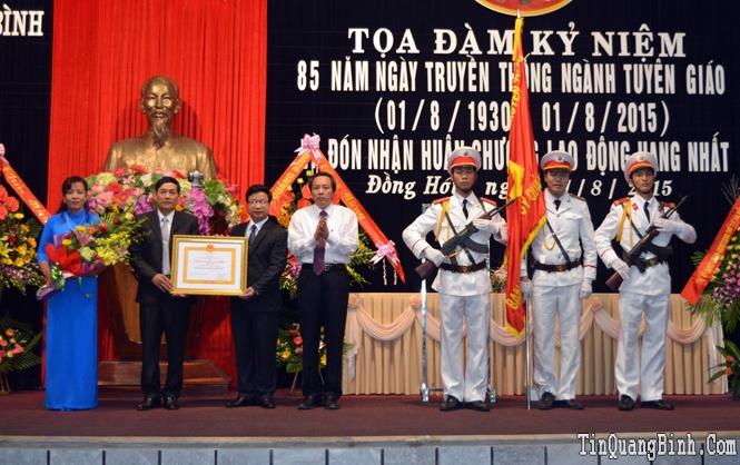Ban Tuyên giáo Tỉnh ủy: Kỷ niệm 85 năm ngày truyền thống ngành Tuyên giáo và đón nhận Huân chương Lao động hạng Nhất