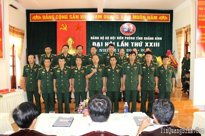 Bế mạc Đại hội Đảng bộ Bộ đội Biên phòng tỉnh lần thứ XXIII, nhiệm kỳ 2015-2020