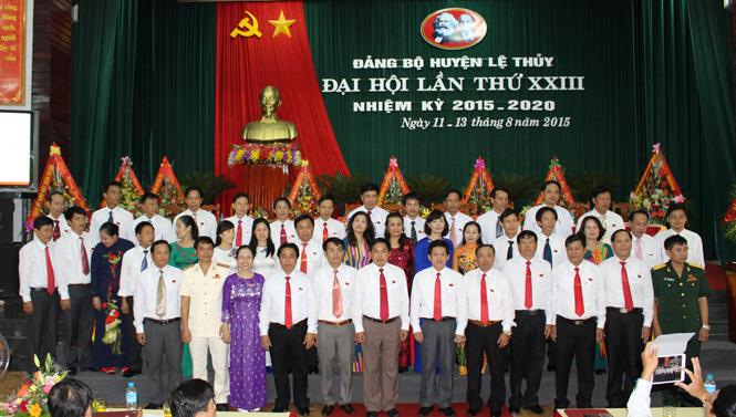 Bế mạc Đại hội Đảng bộ huyện Lệ Thuỷ lần thứ XXIII, nhiệm kỳ 2015-2020