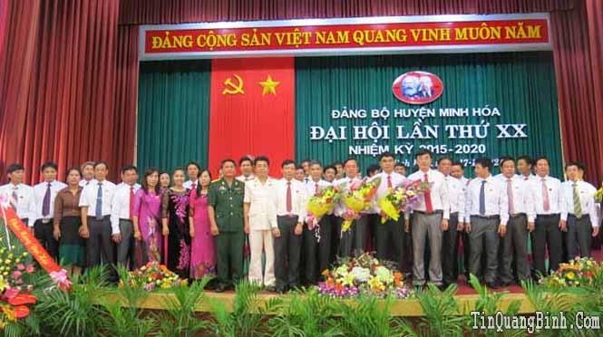 Bế mạc Đại hội Đảng bộ huyện Minh Hóa lần thứ XX, nhiệm kỳ 2015-2020