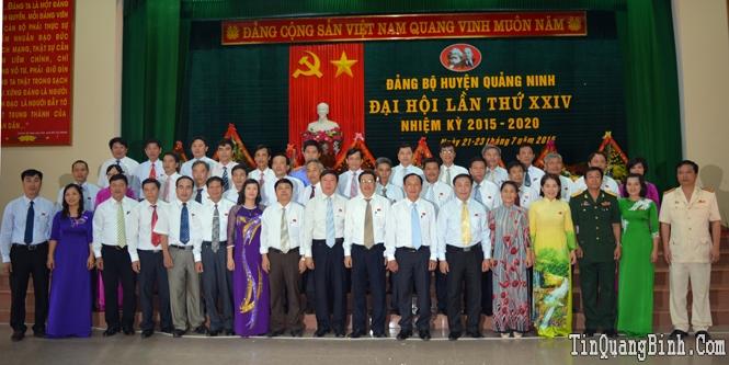 Bế mạc Đại hội Đảng bộ huyện Quảng Ninh lần thứ XXIV, nhiệm kỳ 2015-2020