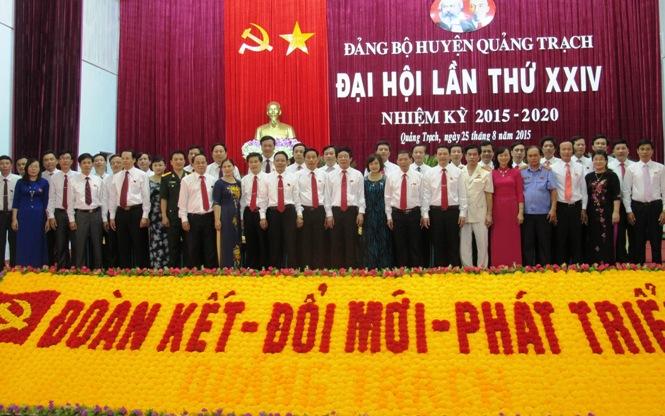 Bế mạc Đại hội Đảng bộ huyện Quảng Trạch lần thứ XXIV, nhiệm kỳ 2015 -2020