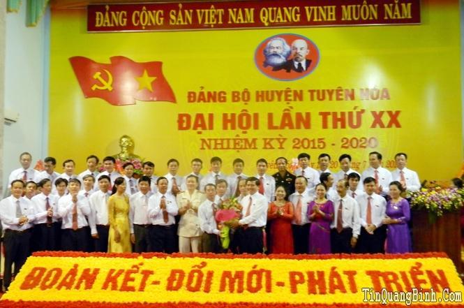Bế mạc Đại hội Đảng bộ huyện Tuyên Hoá lần thứ XX, nhiệm kỳ 2015-2020