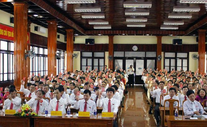Bế mạc Đại hội Đảng bộ thành phố Đồng Hới lần thứ XX, nhiệm kỳ 2015-2020