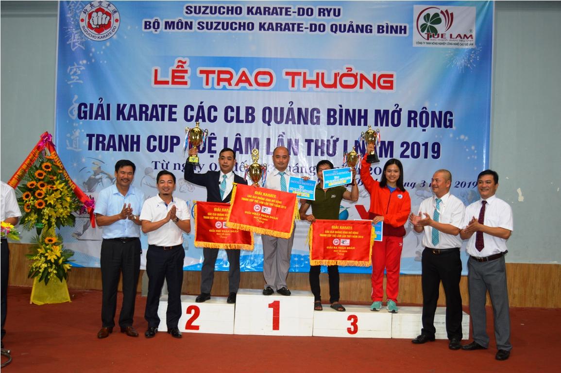 Bế mạc giải Karatedo tranh cúp Tuệ Lâm lần thứ nhất năm 2019