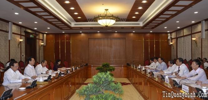 Bộ Chính trị cho ý kiến vào các nội dung Đại hội đại biểu Đảng bộ tỉnh Quảng Bình lần thứ XVI