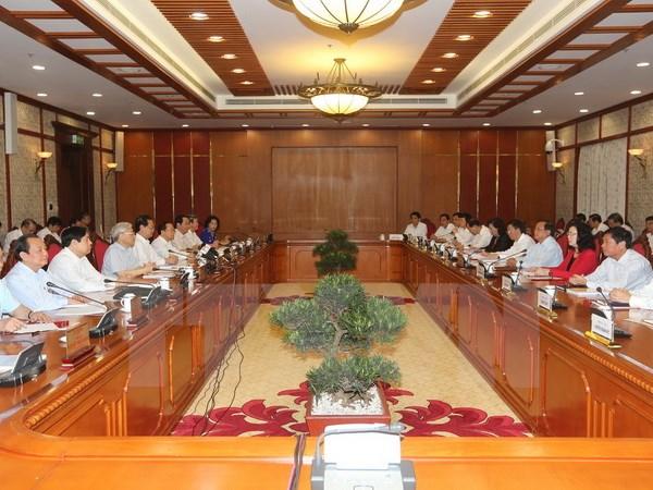 Bộ Chính trị làm việc đợt cuối về chuẩn bị đại hội các đảng bộ