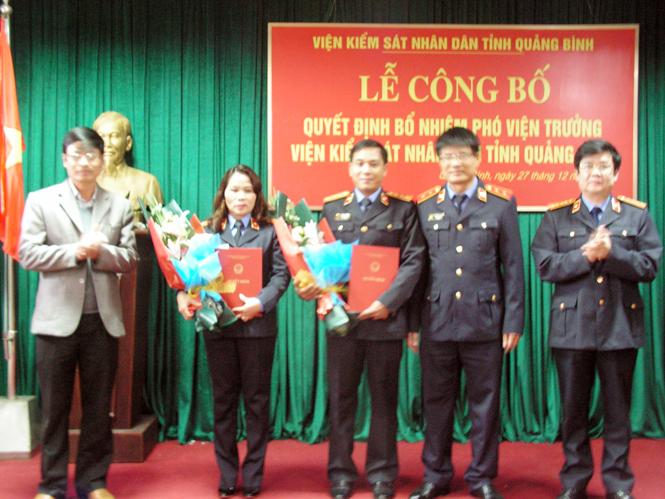Bổ nhiệm 2 Phó viện trưởng Viện Kiểm sát Nhân dân tỉnh