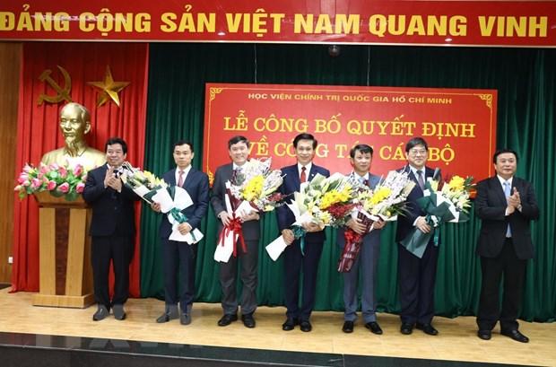 Bổ nhiệm hai Phó Giám đốc của Học viện Chính trị quốc gia Hồ Chí Minh