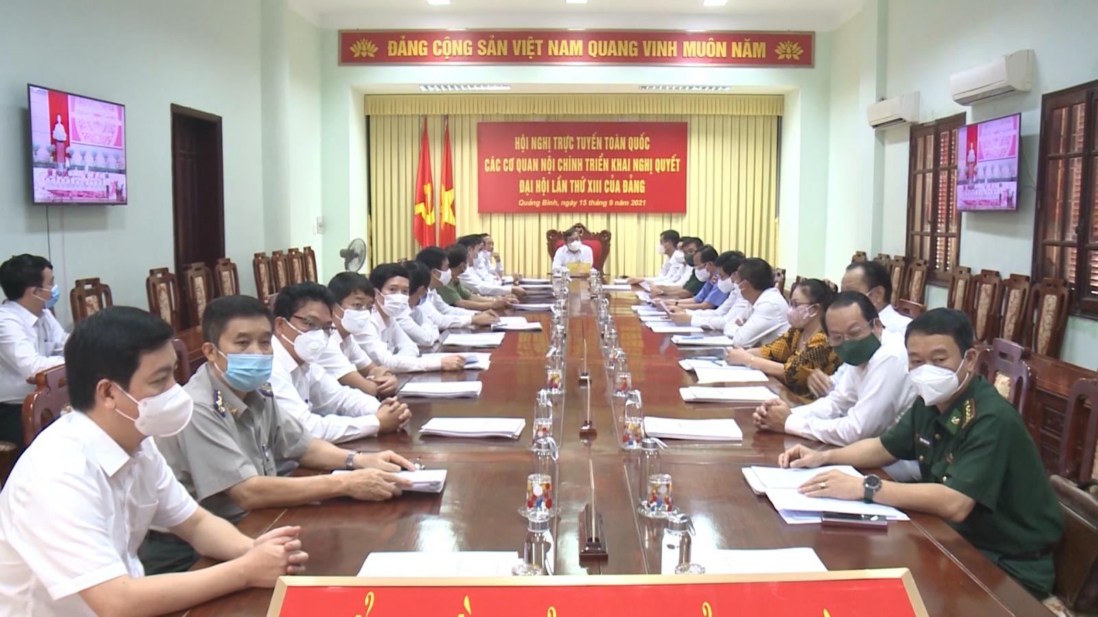 Các cơ quan Nội chính triển khai Nghị quyết Đại hội lần thứ XIII của Đảng