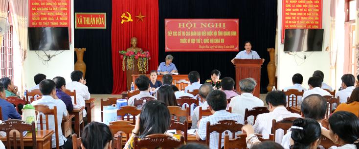 Các đại biểu Quốc hội tiếp xúc cử tri tại 02 huyện Tuyên Hóa và Minh Hóa
