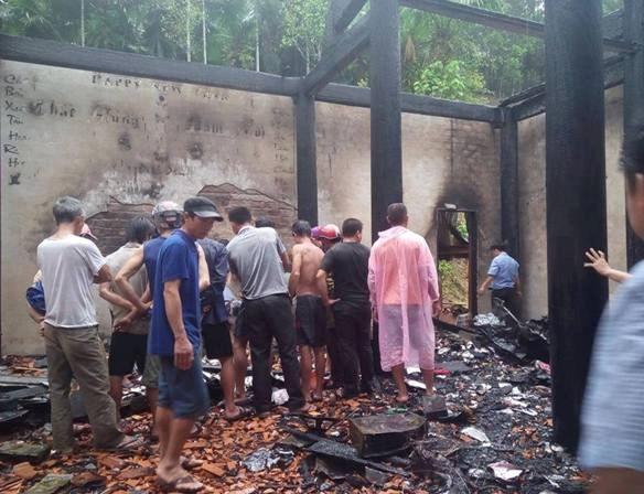 Cháy nhà Phó chủ tịch HĐND xã, thiệt hại gần 1 tỷ đồng