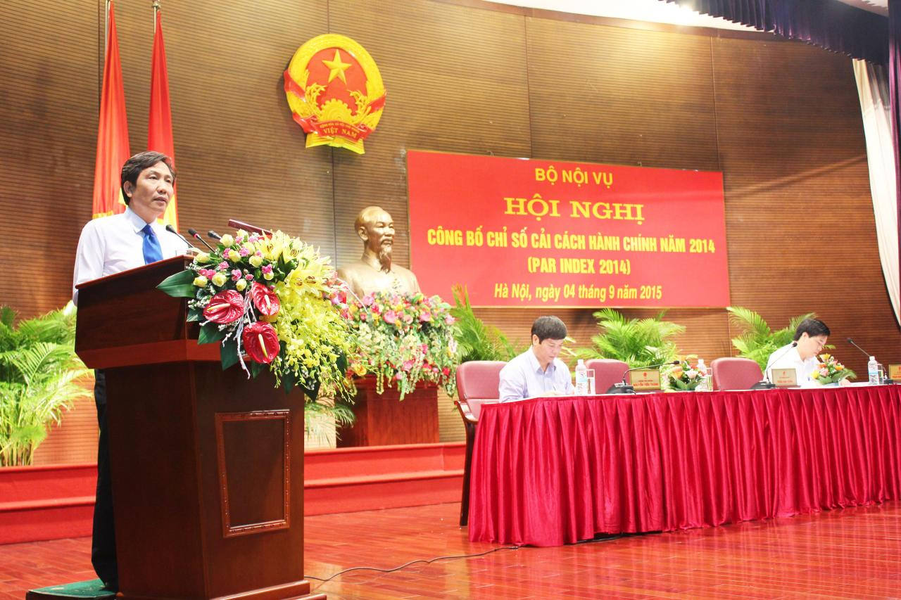 Chỉ số cải cách hành chính năm 2014: Quảng Bình tăng 11,65 điểm