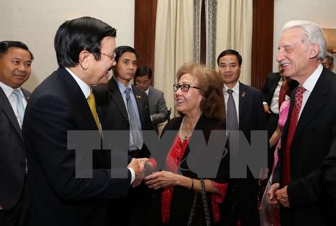 Chủ tịch nước Trương Tấn Sang gặp gỡ bà con Việt kiều ở Hoa Kỳ