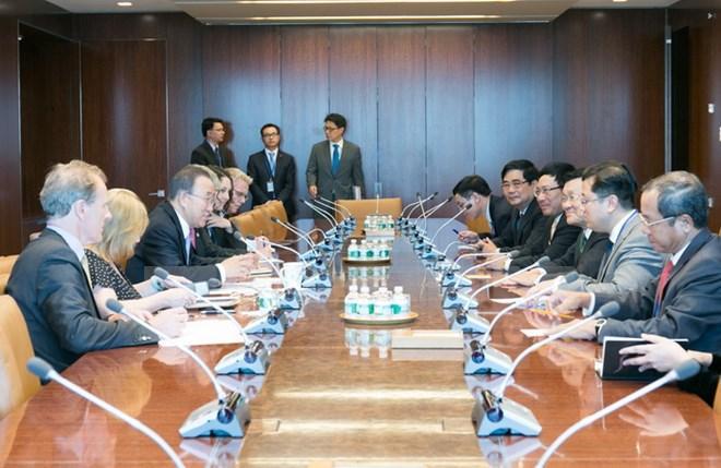 Chủ tịch nước Trương Tấn Sang hội kiến Tổng Thư ký LHQ Ban Ki-moon