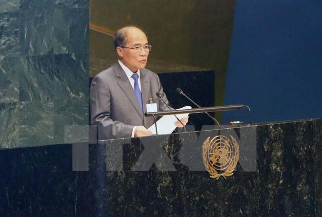 Chủ tịch Quốc hội kết thúc dự Hội nghị các Chủ tịch Quốc hội