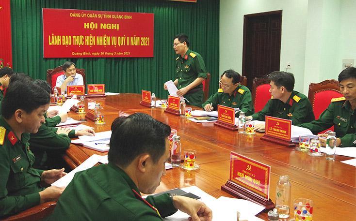 Chú trọng lãnh đạo nhiệm vụ quân sự, quốc phòng và công tác bầu cử đại biểu Quốc hội khóa XV