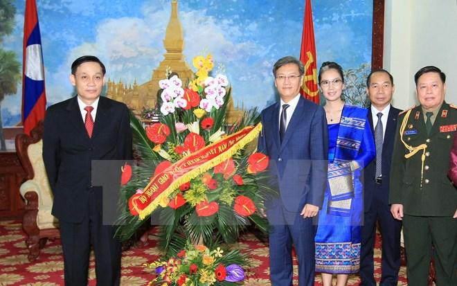 Chúc mừng Quốc khánh lần thứ 40 Cộng hòa Dân chủ Nhân dân Lào