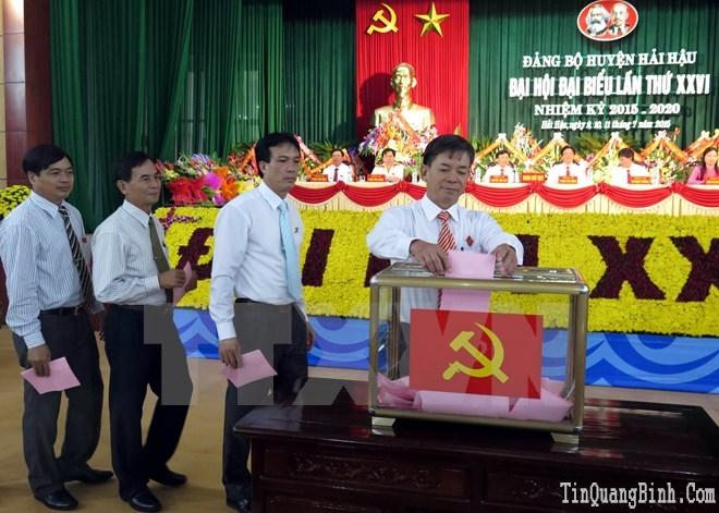 Cơ bản hoàn thành đại hội điểm đảng bộ cấp huyện trên toàn quốc