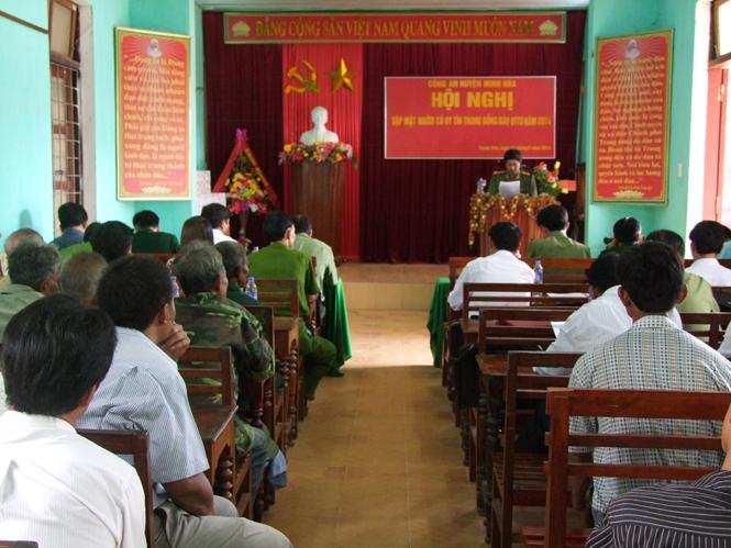 Công an huyện Minh Hóa: Phát huy vai trò người có uy tín trong đồng bào dân tộc thiểu số trong đảm bảo an ninh trật tự