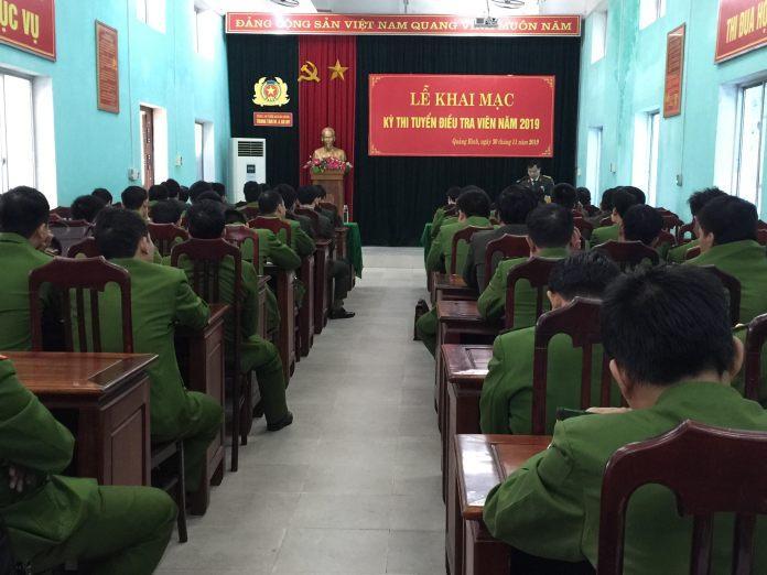 Công an tỉnh Quảng Bình tổ chức thi tuyển Điều tra viên năm 2019