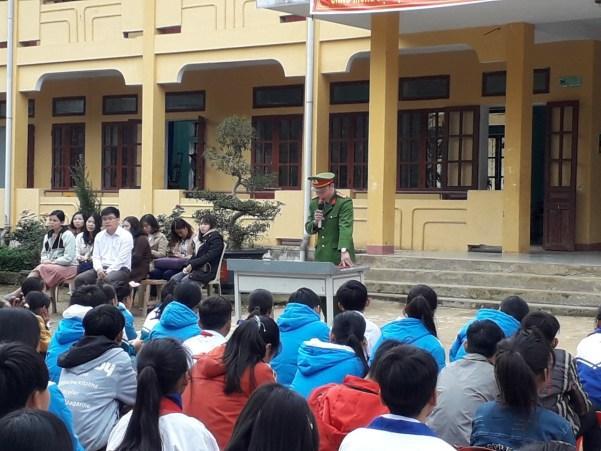 Công an xã Lâm Hóa đảm bảo tốt ANTT trước thềm Tết Canh tý