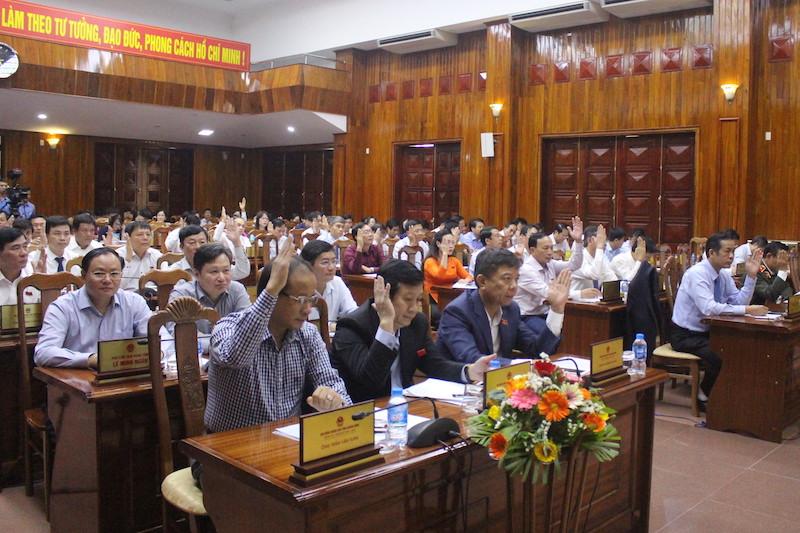 Công bố kết quả lấy phiếu tín nhiệm đối với những người giữ chức vụ do HĐND tỉnh bầu
