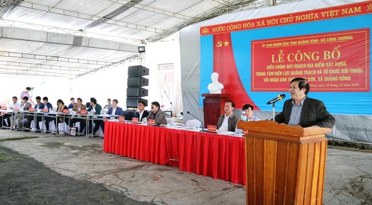 Công bố quy hoạch điều chỉnh, giới thiệu công nghệ Nhà máy nhiệt điện Quảng Trạch