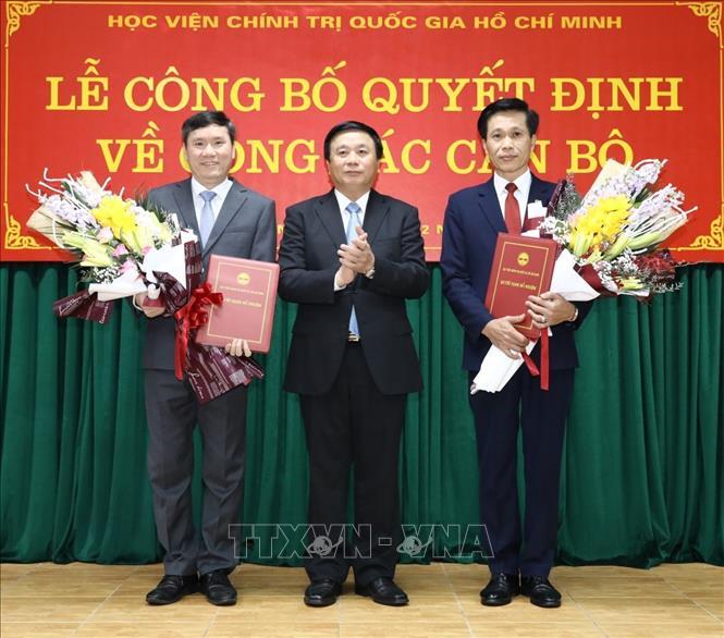 Công bố quyết định bổ nhiệm hai tân phó giám đốc Học viện Chính trị quốc gia Hồ Chí Minh