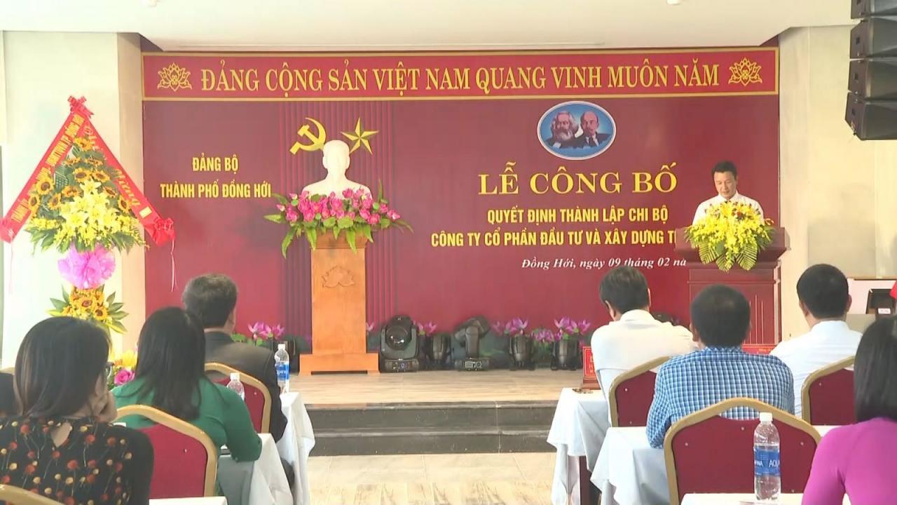 Công bố Quyết định thành lập Chi bộ Công ty CP Đầu tư và Xây dựng The Sang